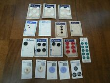 Lot of Vintage Sewing Buttons on Cards 17 All Costumakers 56 Buttons Variety