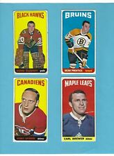 1964-65 Topps #'s 19,22,53,75 Lot of 4 Hockey Cards