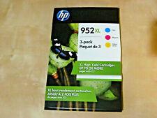 HP 952 XL (Cyan, Magenta, Yellow ink Cartridges *NEW Genuine)