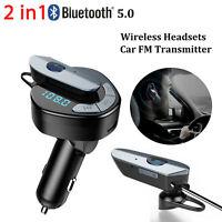 Kit voiture Bluetooth Transmetteur FM Lecteur MP3 Adaptateur radio Chargeur USB