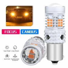 48W Canbus Error Free BAU15S 7507 PY21W Amber LED Turn Signal Light Bulbs 1156PY
