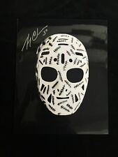 BOSTON BRUINS GERRY CHEEVERS AUTOGRAPHED THE MASK 8X10 PHOTO W/COA
