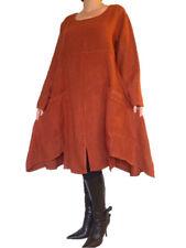 Langarm Damenkleider mit Rundhals-Ausschnitt ohne Muster