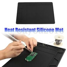 33x21cm Heat Insulation Silicone Pad Desk Mat For BGA Soldering Station Repair
