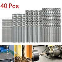 Mini-Bohrer-Set, HSS-Bohrer, 0,5 mm, 2,0 mm, gerader Schaft, 40 Stück