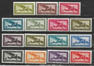 Complete series 15 new stamps**  French INDOCHINA   Air Mail  1942/44  (7775)
