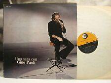 GINO PAOLI - UNA SERA CON GINO PAOLI LP VG/VG- 1974 RICORDI SMRL 6125 1st PRESS