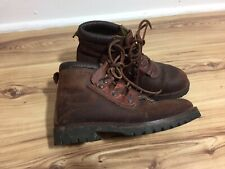 Women's Brown Leather Victorianna Workhouse Lace  Up Farm  Ankle Boot Size UK 5