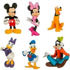 TOPOLINO 6 PERSONAGGI FIGURE Statuette Torta Festa Compleanno Paperino Di Disney