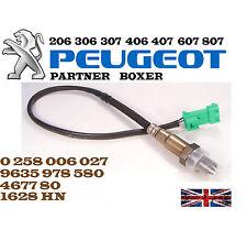 Oxygen O2 Lambda Sensor Peugeot 106 206 306 307 406 407 607 807 Boxer Partner