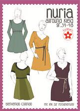 Schnittmuster Allorund Kleid Größen 34 bis 48 Farbenmix Nuria