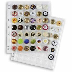 Pochettes plastiques ENCAP, transp. pour 42 muselets de champagneet capsules de