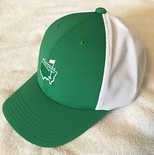 Official 2018 Masters GREEN and WHITE PERFORMANCE Golf Hat Augusta - flag pin