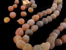UNUSUAL & RARE Gobi Chalcedony Spheroid BEAD Desert Agate LOT  rock gemstone NR