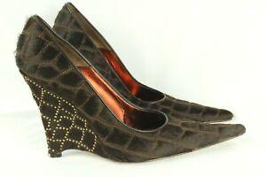Francesco Sacco Women's Shoes Pony Hair Leather Crystal on Heel Size 40