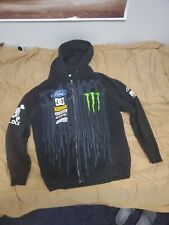 DC Shoes Monster Energy Ken Block Rally Cross Black Fleece Hoodie Jacket Medium