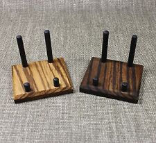 (2) EXOTIC  ZEBRAWOOD MINERAL DISPLAY STANDS FOR A MUSEUM QUALITY DISPLAY !!