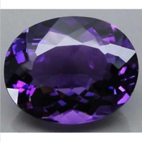 Natural Purple Amethyst Gems 18x13mm 21.46cts Oval Faceted Cut AAA VVS Loose Gem