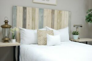 Farmhouse Mix Headboard, Hanger Style, Handcrafted. Mounts on Wall.