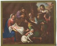 VINTAGE CHRISTMAS MADONNA & CHILD NATIVITY SHEEP RENAISSANCE MCM GREETING CARD