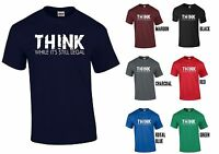 THINK WHILE IT'S STILL LEGAL T-SHIRT - ANONYMOUS RESIST ANTI FASCISM