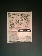 1955 Dinky~Meccano Metal Cars~Trucks~Bus Diecast Miniature Vintage Toy Trade AD