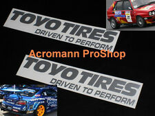 "2x 12"" 30.5cm Toyo Tires decal sticker perform T1R Proxes GP Drift D1 driven car"