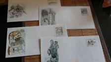 Lot de 4 enveloppes Prêt à Poster illustrées Vienne avec cartes intégrées - 20g