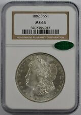 1882-S Morgan Silver Dollar NGC MS65 CAC