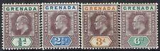 GRENADA 1902 KEVII 1/2D 21/2D 3D AND 6D WMK CROWN CA