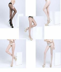 8D Small Multi Color Sexy OpenCrotch Crotchless Sheer Pantyhose Stockings Tights