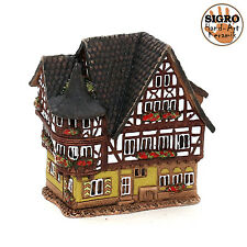 cerámica casa de velas lichterhaus Portavelas Modelo Casa De Madera 13cm 40518