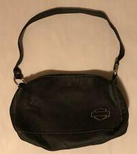 Officially Licensed Harley Davidson Black Leather Purse Clutch Handbag