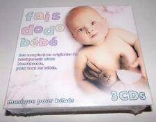Fais Dodo Bébé 3 CD Set Musique Pour Bébés Classical - NEW