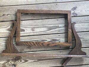 "Antique Dresser Washstand Top Wood Mirror Frame 29""x16"" Roughly"