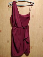 Topshop Hot Pick Occasion Dress Single One Shoulder Plum Party Size 6 XSmall