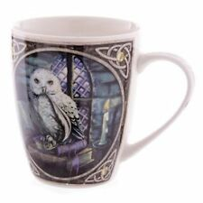 (Pair Of) Lisa Parker White Owl Bone China Mugs
