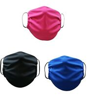 Face Mask Washable Reusable Adult Unisex 3 Pack Made in USA