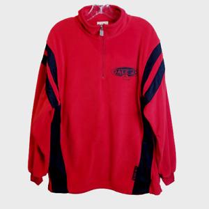 Nascar Dale Earnhardt Jr. #8 Fleece Jacket MEDIUM Chase Authentics 1/4 Zip Red