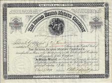 ARIZONA Territory 1883 The Burro Burro Mining Co Stock Certificate Myers Pima
