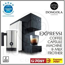 WHITE 2016 ALDI Expressi Capsule Pod Automatic Coffee Machine & Milk Frother