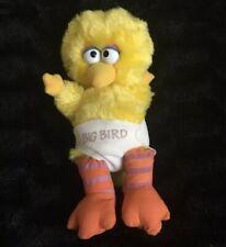 "Vintage Applause Baby Big Bird Plush Sesame Street W/ Diaper 11"" 1983"