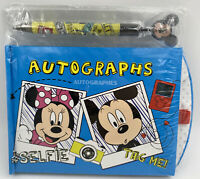 Disney Store Mickey Minnie Donald Duck Autograph Book w/Pen, Social Media Travel