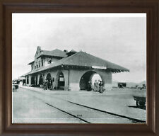 Vintage Las Vegas 1908 Old City Black And White Wall Decor Art Framed Picture