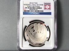 2014-P NGC 70 ultra cameo $1 Dollar Baseball Hall of Fame early release