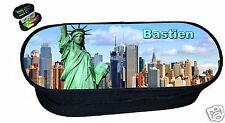 trousse à crayons REF 102 NEW YORK USA   avec prénom au choix