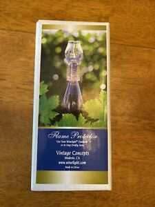 Winelight Flame Protector by Vintage Concepts Clear NIP
