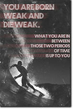MOTIVATIONAL SURFING POSTER 2 QUOTE SURF MOTIVATION PHOTO PRINT GIFT SURF