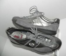 ECCO Gray Leather Suede Fashion Oxford Sneakers Shoes size 41 10