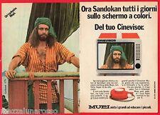 Pubblicità Advertising MUPI cinevisor 1976 SANDOKAN (Kabir Bedi) -